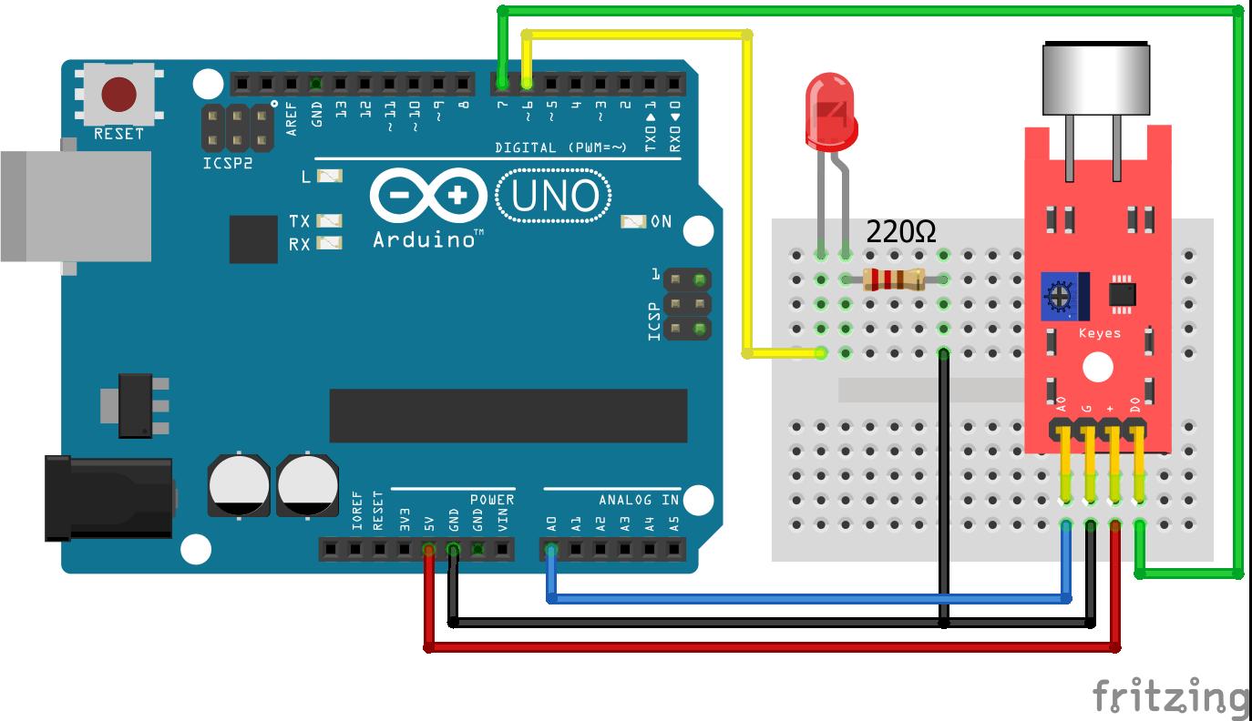 KY-038 Sound Sensor Arduino Uno
