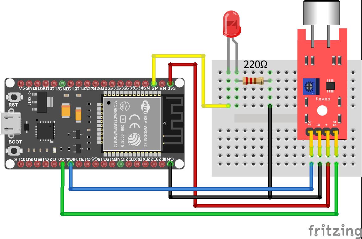 KY-038 Sound Sensor ESP32 ESP-WROOM-32
