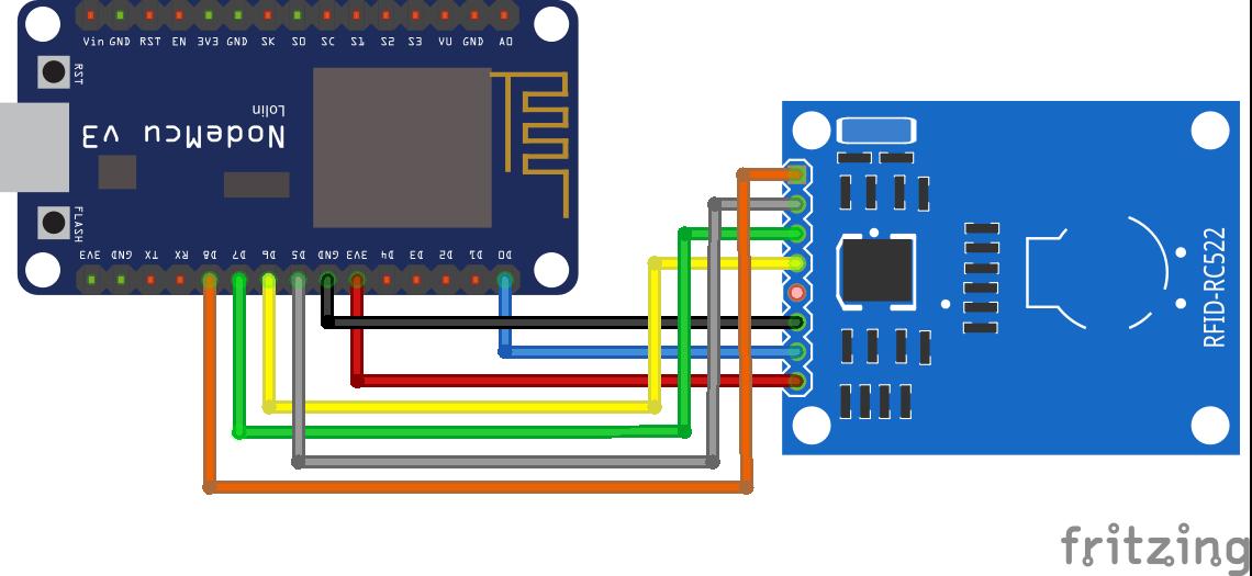 RFID RC522 ESP8266 NodeMCU