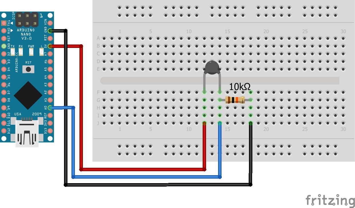 Wiring Thermistor Arduino Nano