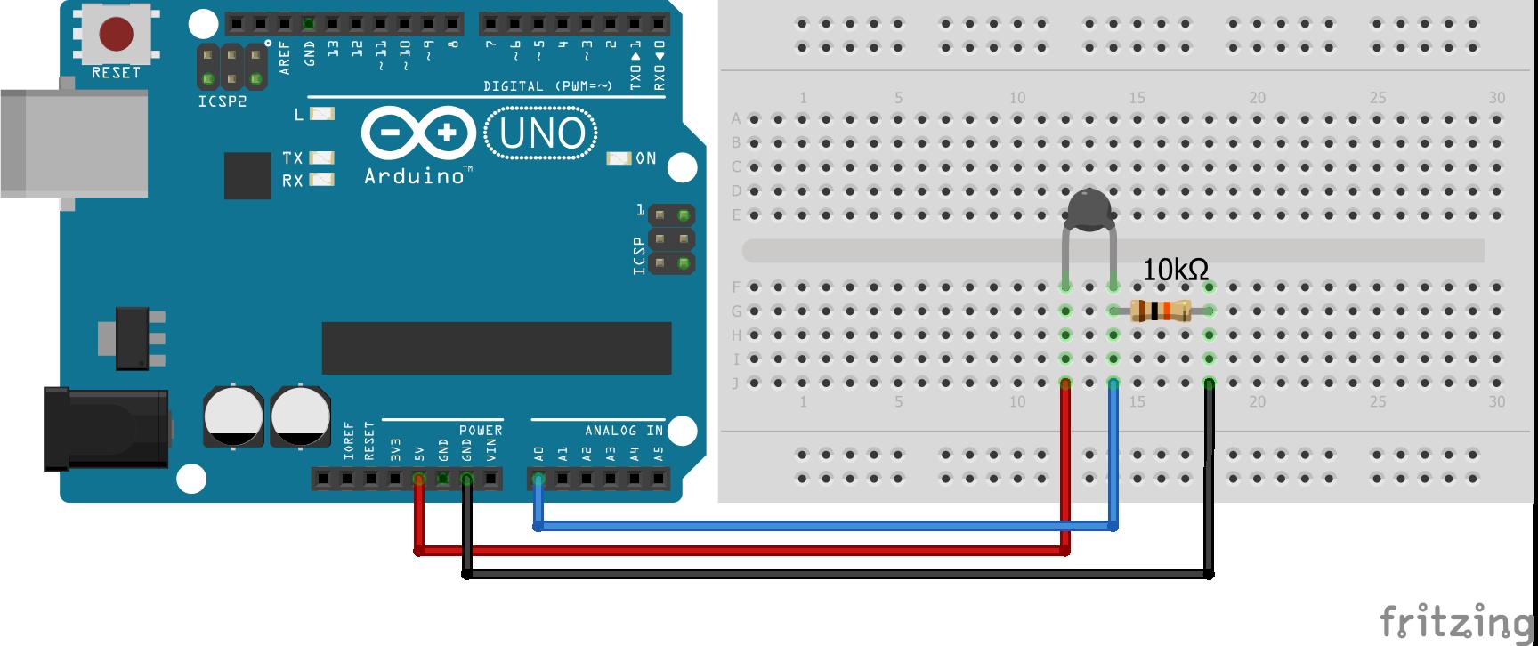 Wiring Thermistor Arduino Uno