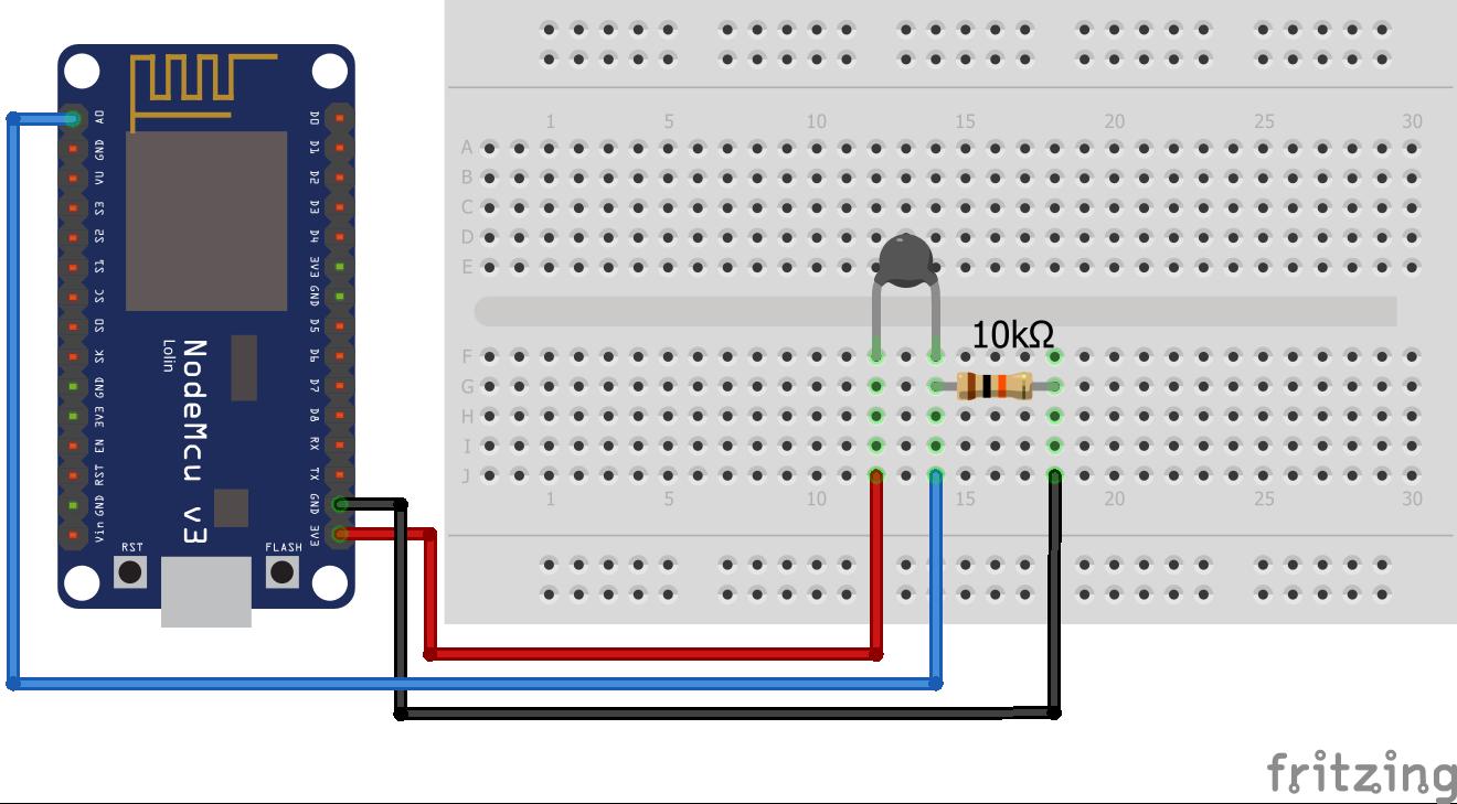 Wiring Thermistor ESP8266 NodeMCU