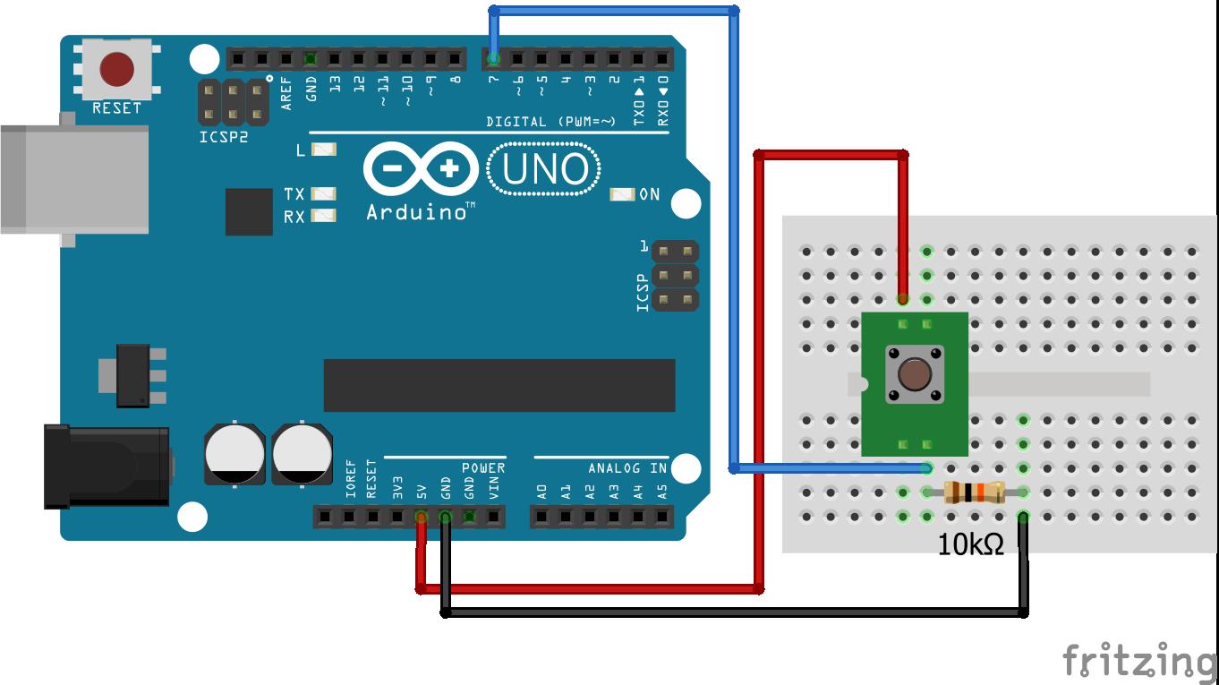 Wiring Pull Down Resistor Arduino Uno