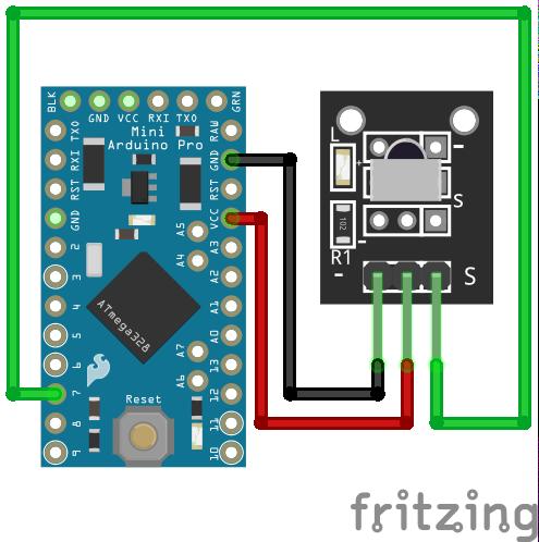 Wiring VS1838B Infrared Sensor Arduino Pro Mini
