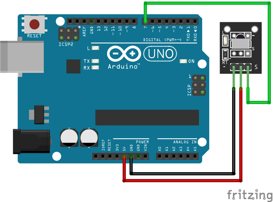 Wiring VS1838B Infrared Sensor Arduino Uno