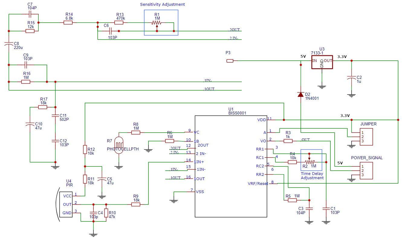 HC-SR501 Schematic