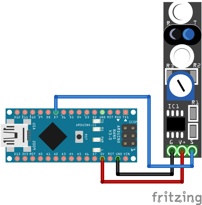 TCRT5000 KY-033 Line Tracking Module Arduino Nano