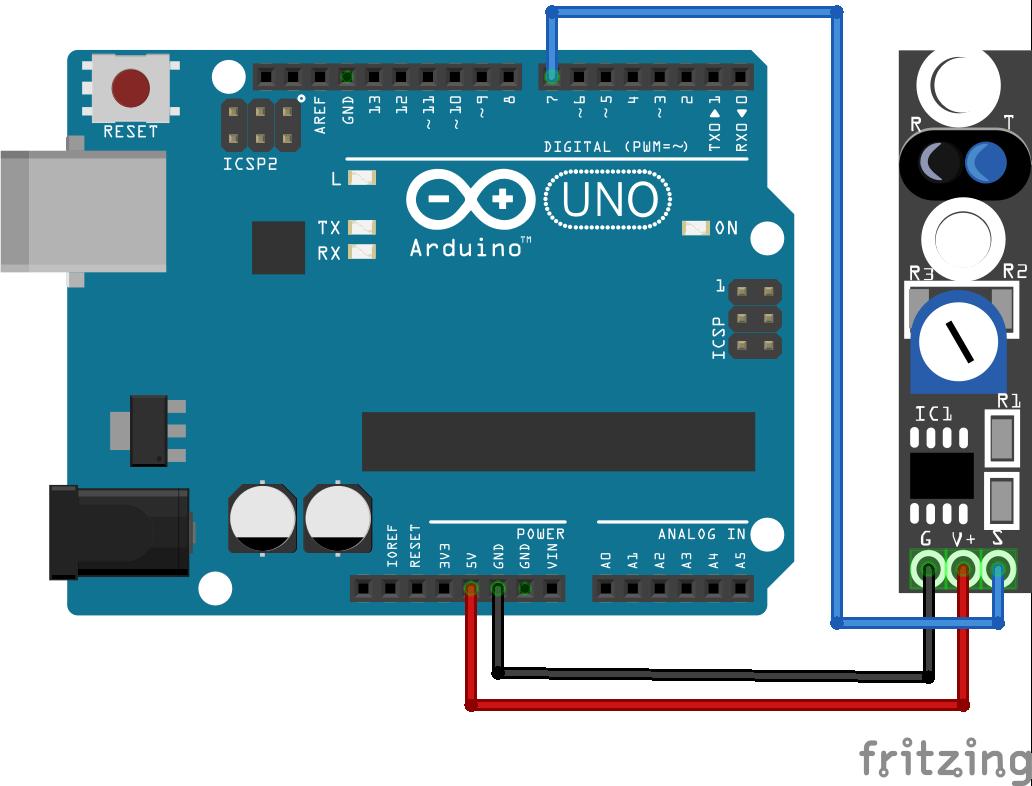 TCRT5000 KY-033 Line Tracking Module Arduino Uno