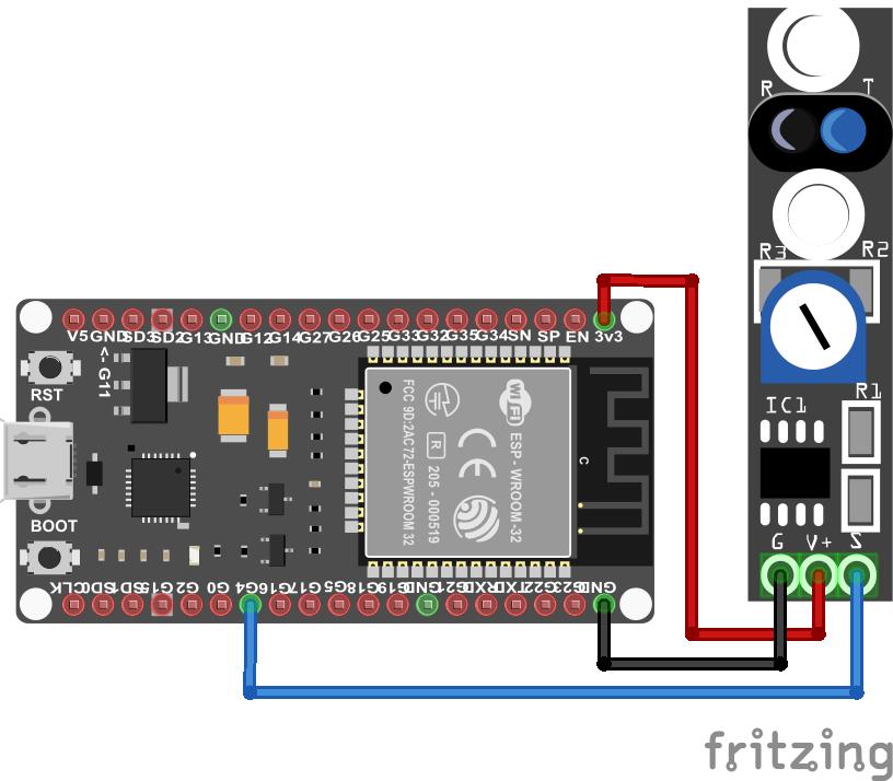 TCRT5000 KY-033 Line Tracking Module ESP32 ESP-WROOM-32