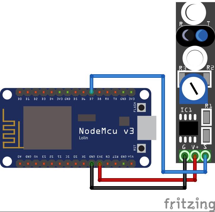 TCRT5000 KY-033 Line Tracking Module ESP8266 NodeMCU
