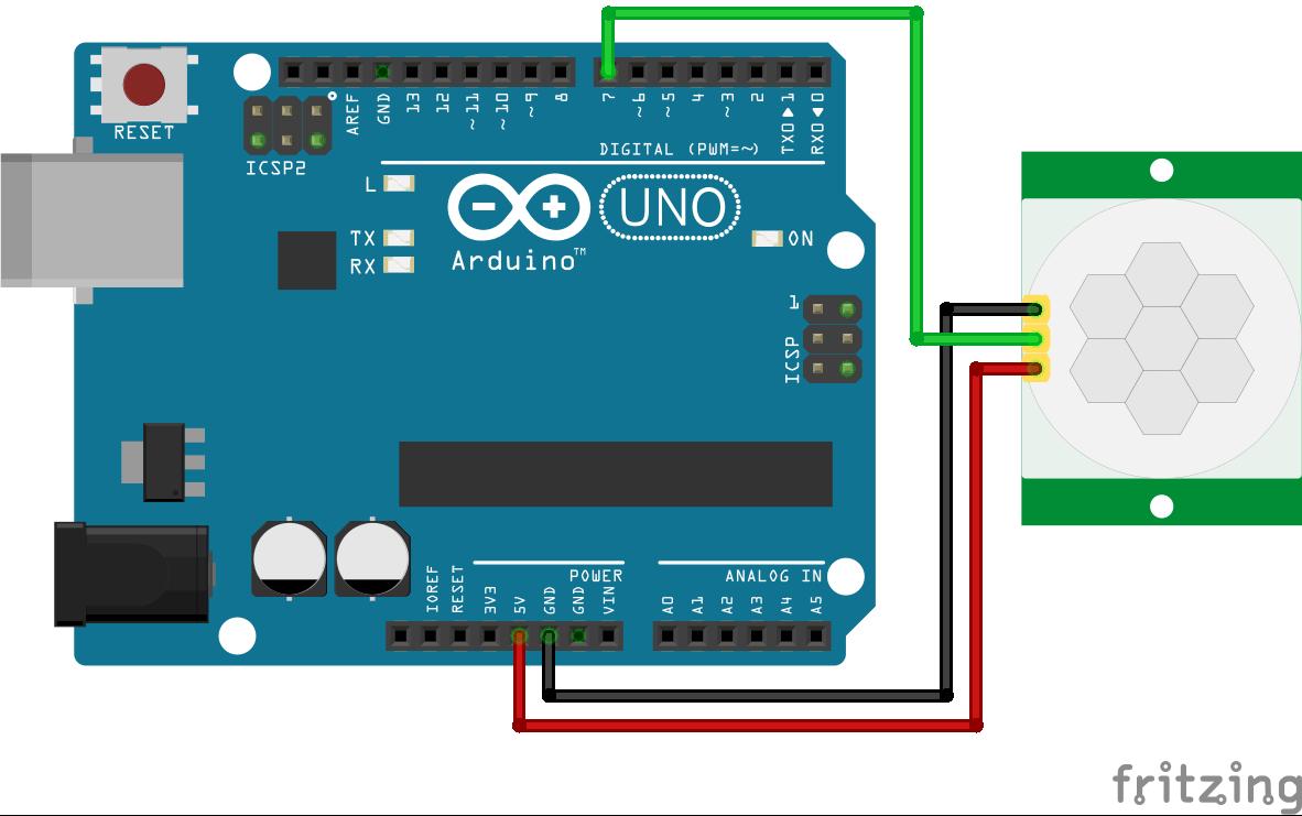 Wiring HC-SR501 Infrared Motion Sensor Arduino Uno